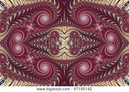 Beautiful Background With Spiral Pattern. Collection - Oriental Tales.