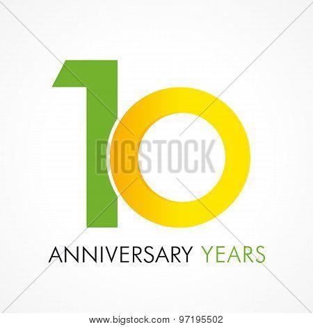 10 circle anniversary logo