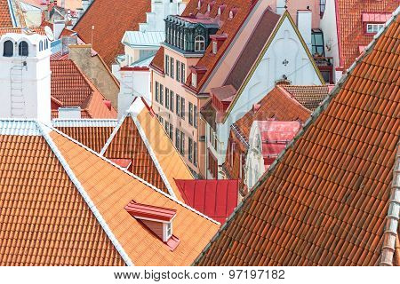 Red Roofs In The Old City.