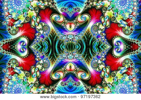 Multicolored Background With Spiral Pattern. Collection