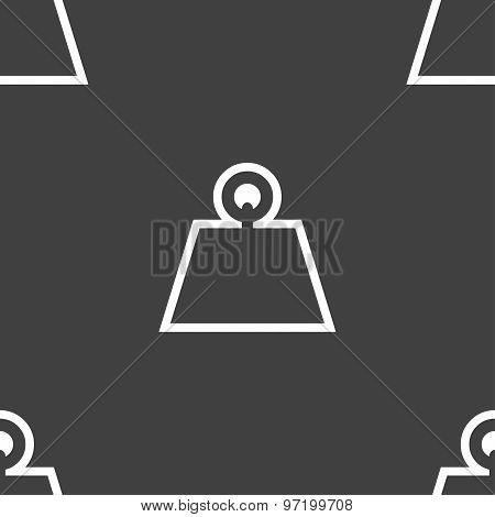 Weight Icon Sign. Seamless Pattern On A Gray Background. Vector