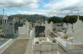 Monumental Cemetery With Interesting Tombs In Marble poster