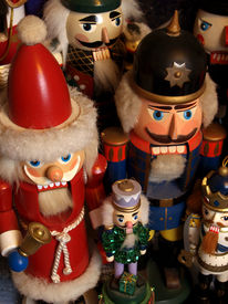 pic of tchaikovsky  - a gathering of nutcrackers with santas kings princes and soldiers - JPG