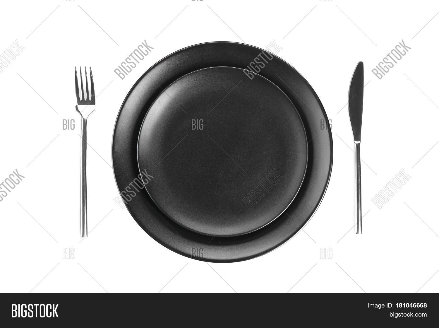 Table Setting One Person On White Image Photo Bigstock