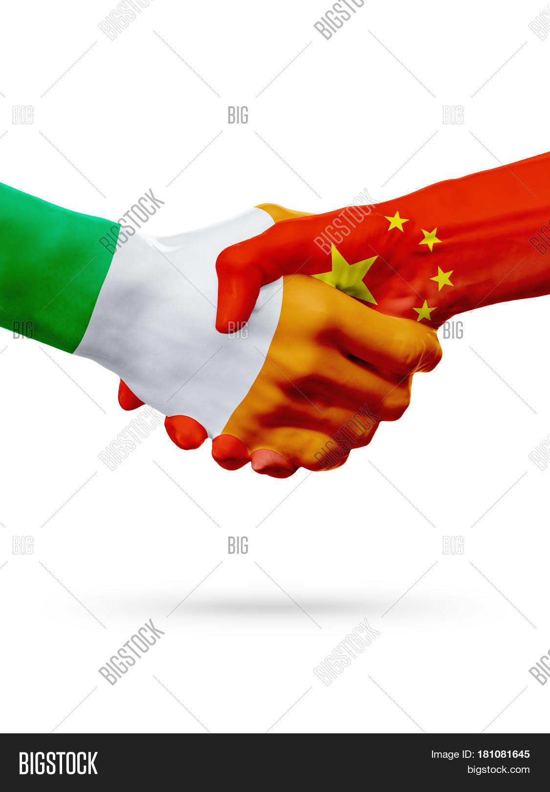 Flags Ireland China Countries Image & Photo | Bigstock