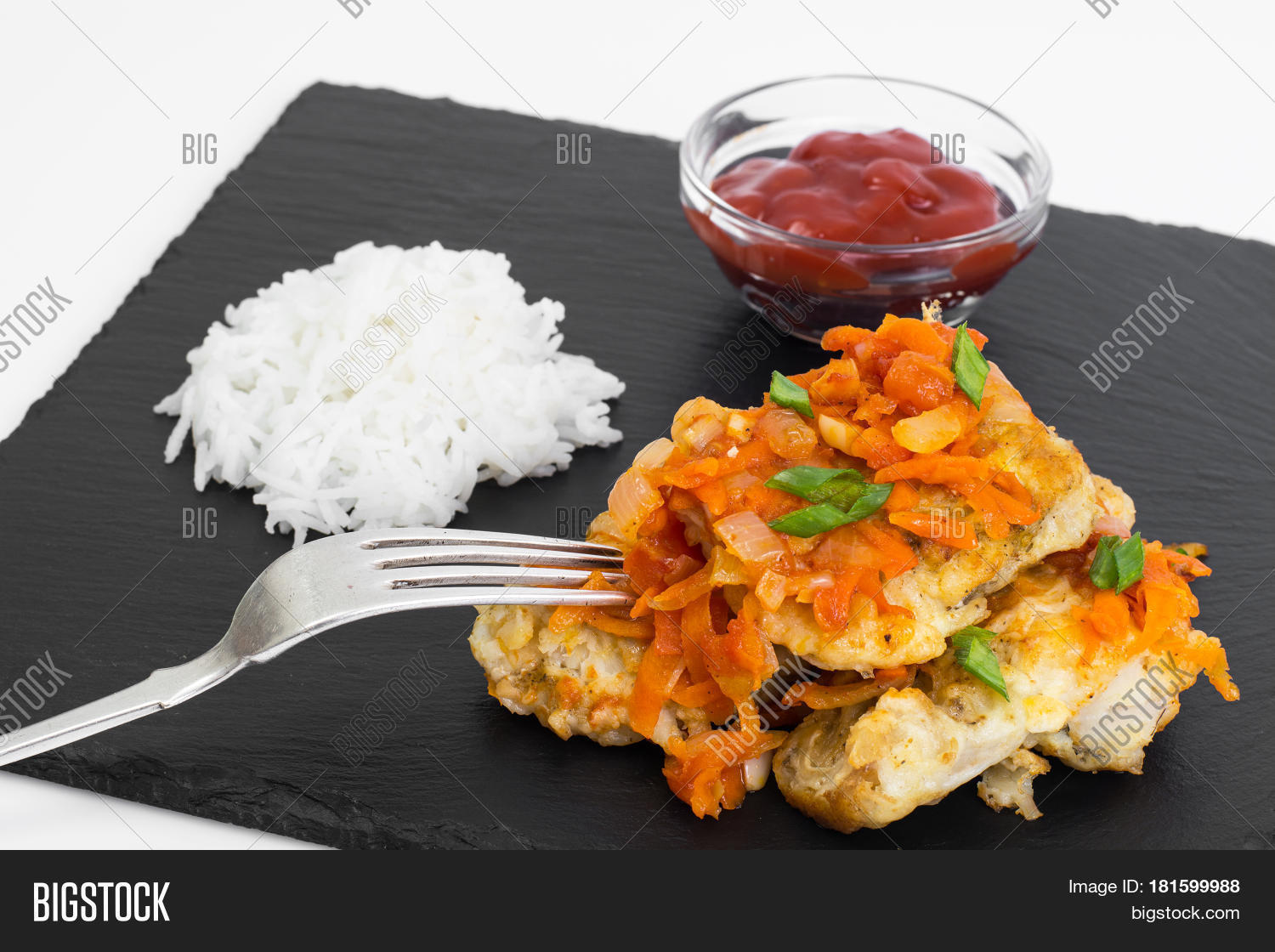 White fish vegetables side dish image photo bigstock for Rice side dishes for fish