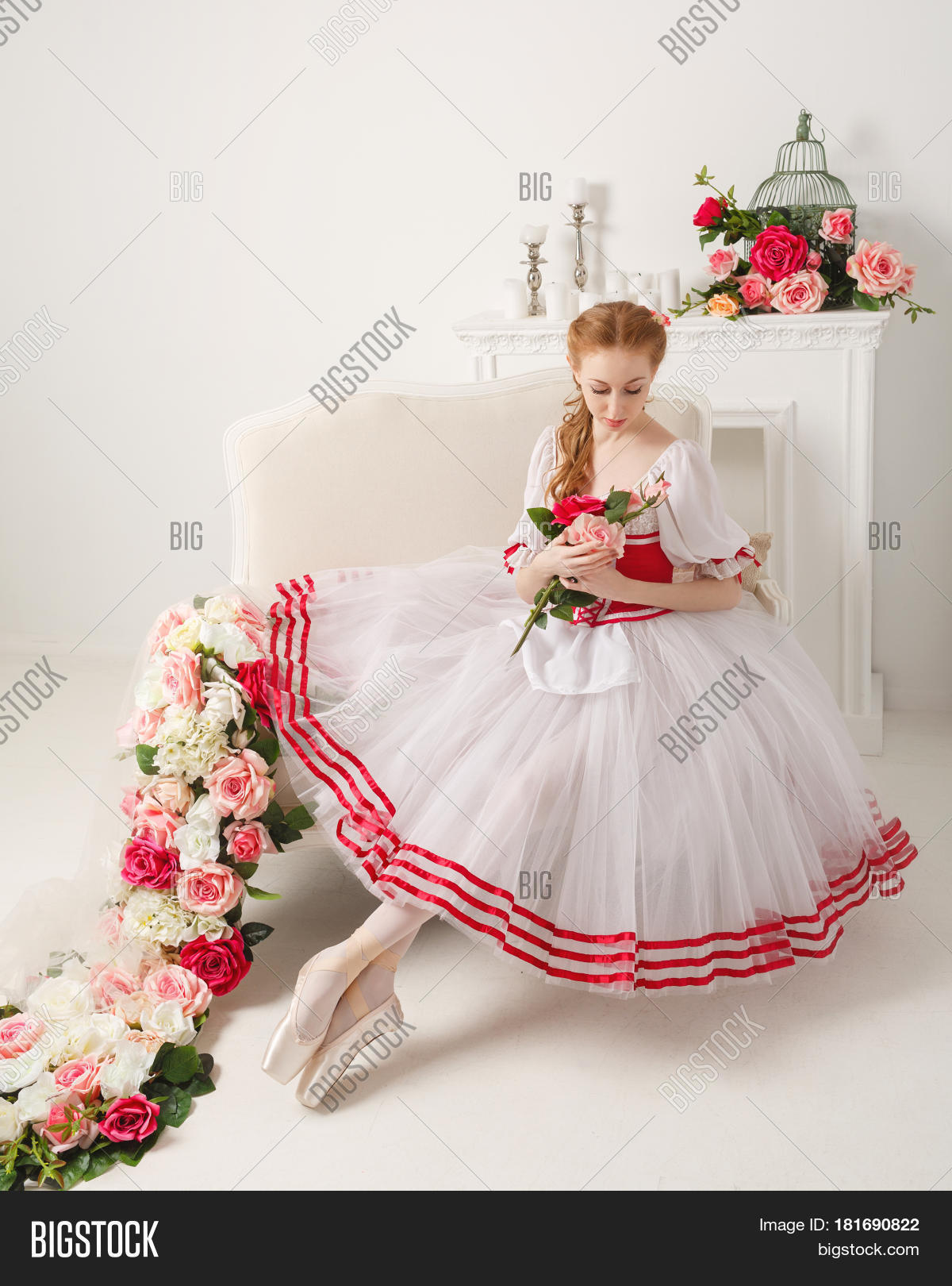 Sweet Ballerina Stage Costume Holds Image Photo Bigstock