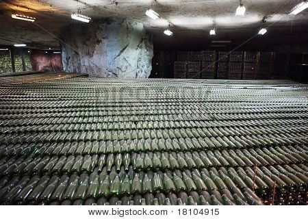Champagne Cellar, Factory At A Depth Of 80 Meters