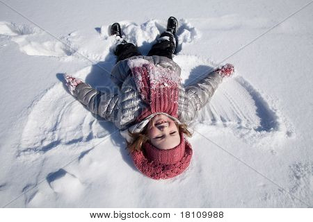 A Girl On Snow