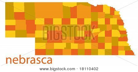 vector map of nebraska state