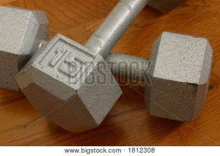 Dumbells Closeup
