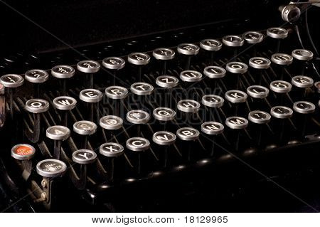 Old typewriter, deadline text