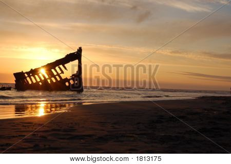 Sunset At The Iredale Shipwreck