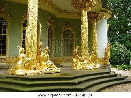 Chinese Teahouse in the Sans Souci park in Potsdam, Germany
