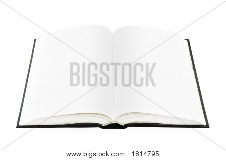 Opened Book (Isolated On White)