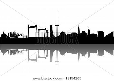 Kiel Skyline abstract
