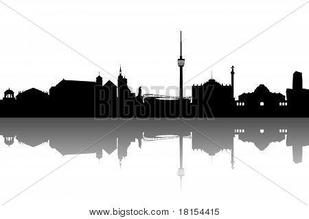 Stuttgart Silhouette abstract