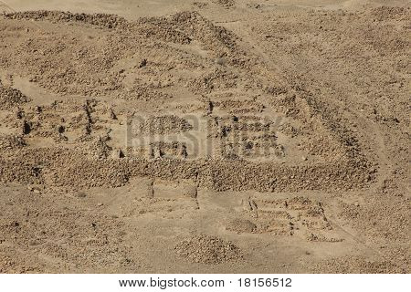 Roman camp of Masada, the latest remains of Jewish in the ancient Israel
