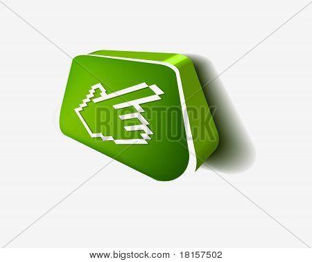 3D Hand Cursor Icon