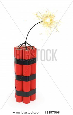 Dynamite With Burning Wick
