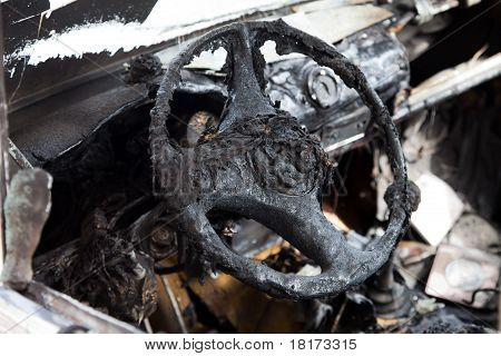 Fire Burnt Car Vehicle
