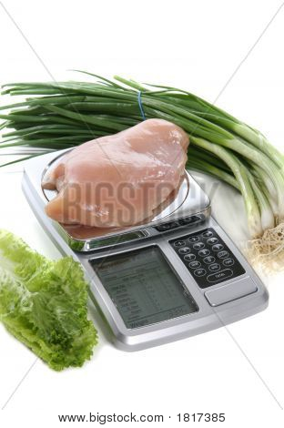 Raw Chicken On Scale