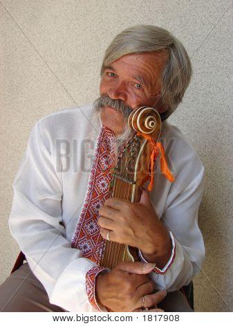 Elder Ukrainian Bandurist Muscian 13