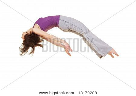 Woman Doing A Somersault Backflip