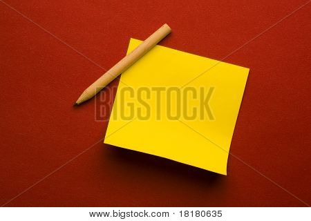 Sticker and pencil