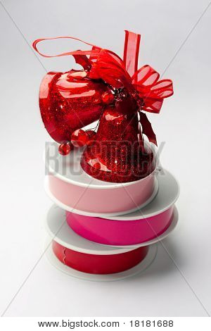 Reels of ribbon and bells