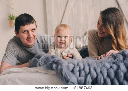 happy family playing