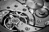 Macro Shot Of Clockwork Gears Inside The Watch poster