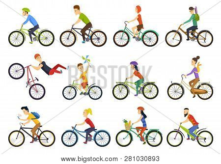 Group Of Tiny People Riding