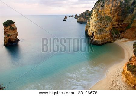long exposure at the ocean in algarve, Portugal
