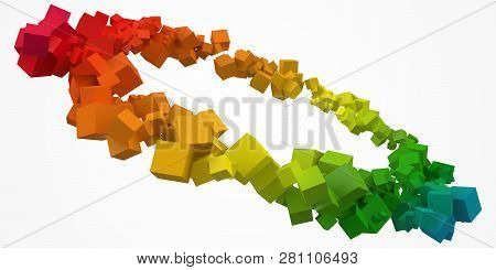 Colorful Cubes Ring With Free