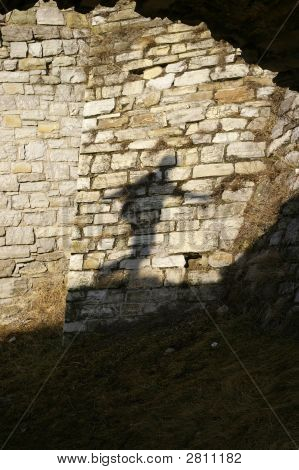 Shadow On The Bricks Wall
