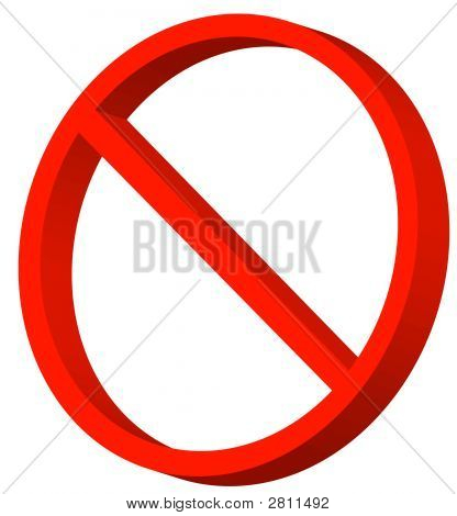 Not Allowed Symbol 3D