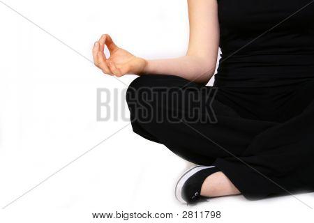 Young Woman Making Yoga- Exercises