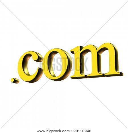 Gold com symbol.
