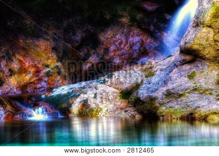 Beautiful Colorful Waterfall