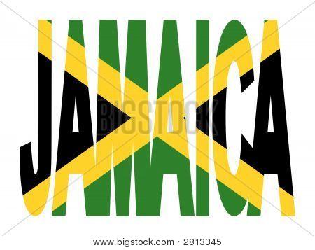 Jamaica Text With Jamaican Flag
