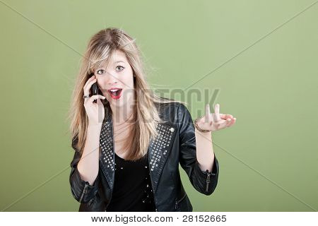 Teen On Phone Call