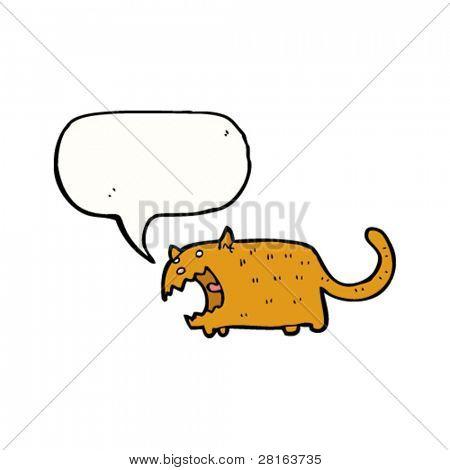 angry screeching cat cartoon
