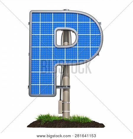 Alphabet Letter P Solar Panel