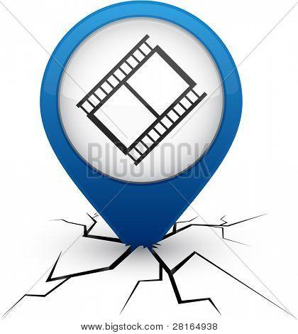 Cinema modern icon. Vector illustration.