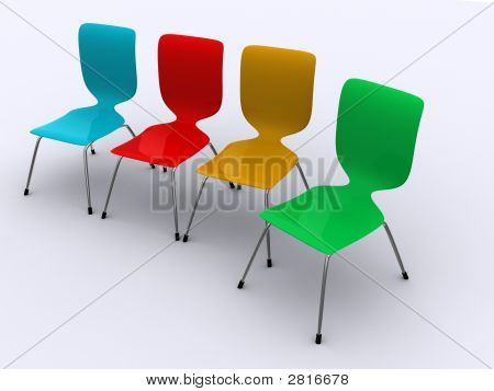 A Group Of Modern Design Office Chairs