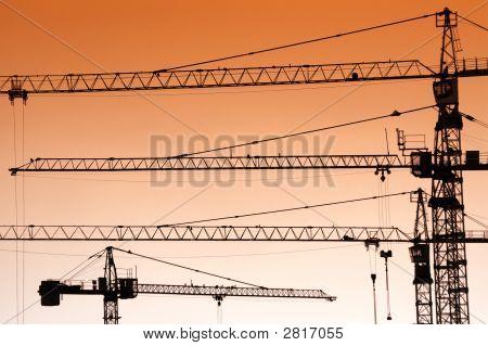Jib Crane Silhouettes