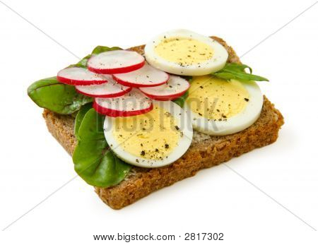 Ei-Sandwich, Isolated On White