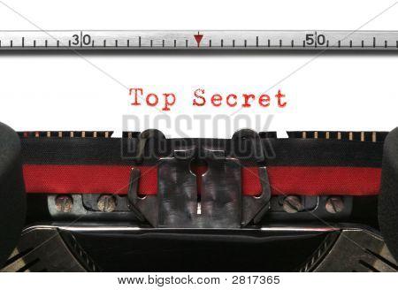 Typewriter Top Secret