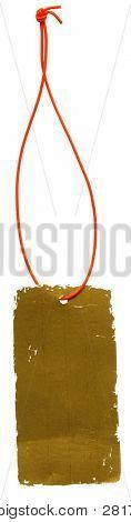 Rótulo de glam ouro velho com laço isolado no branco